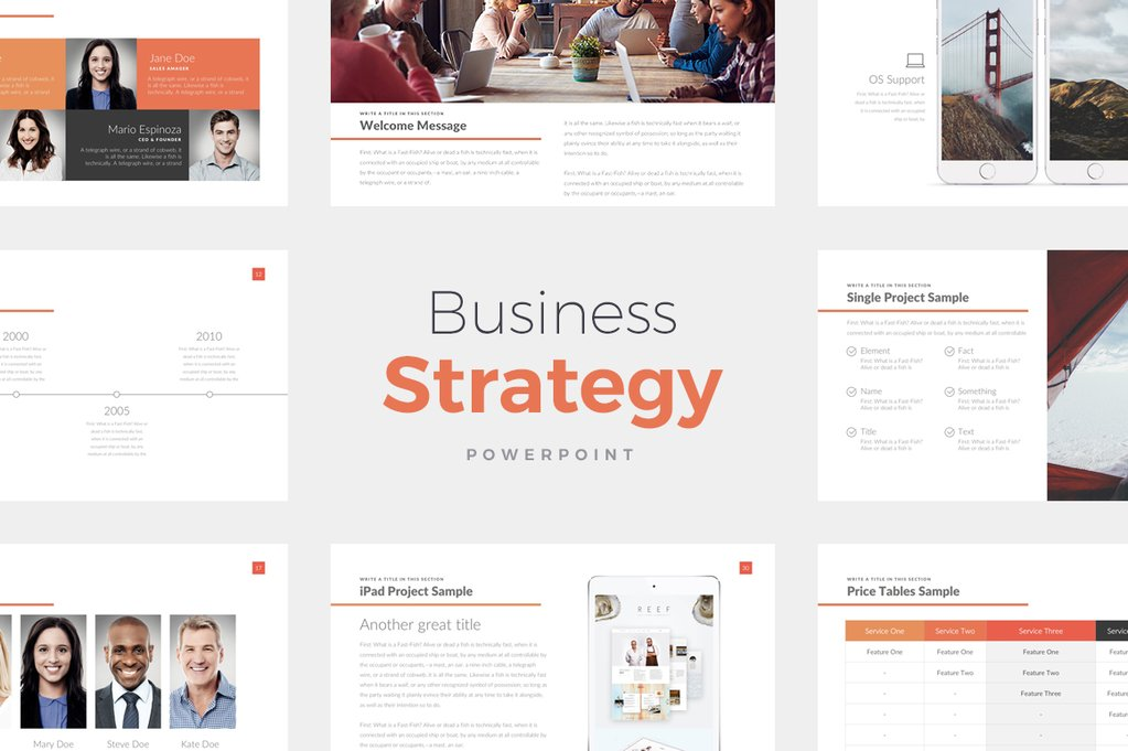 best Business Strategy PowerPoint Template
