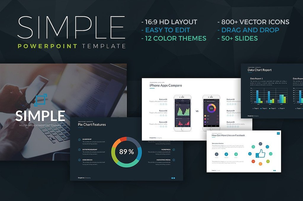 best Simple and Modern Powerpoint Template