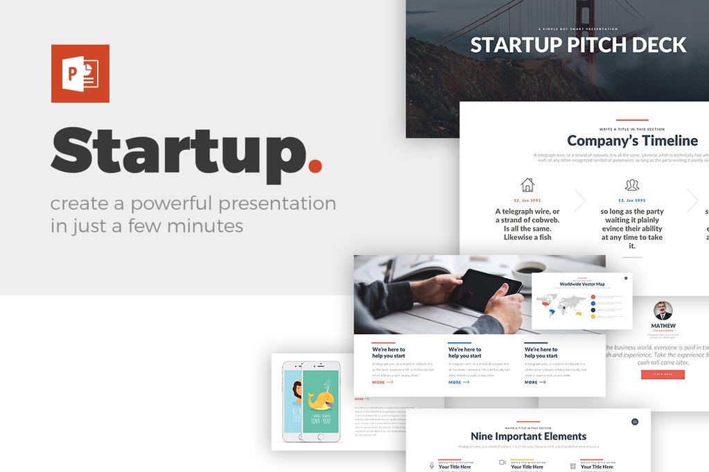 best Startup Pitch Deck PowerPoint Template