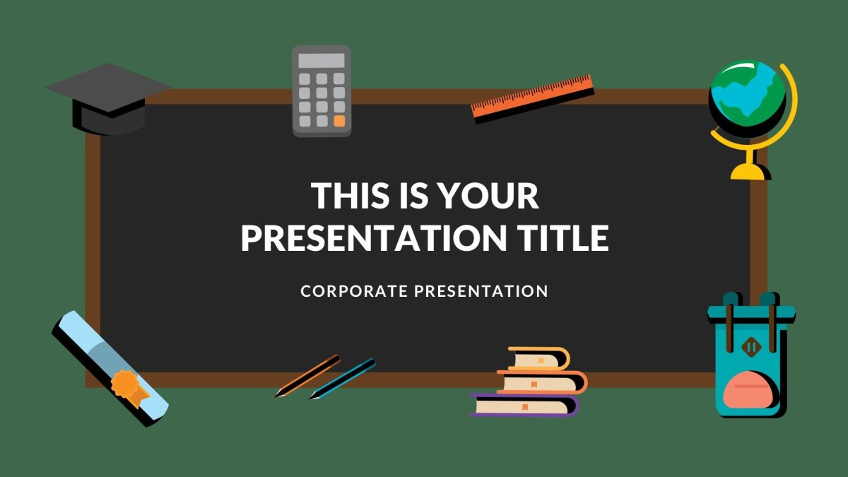 Blackboard Free Google Slides template