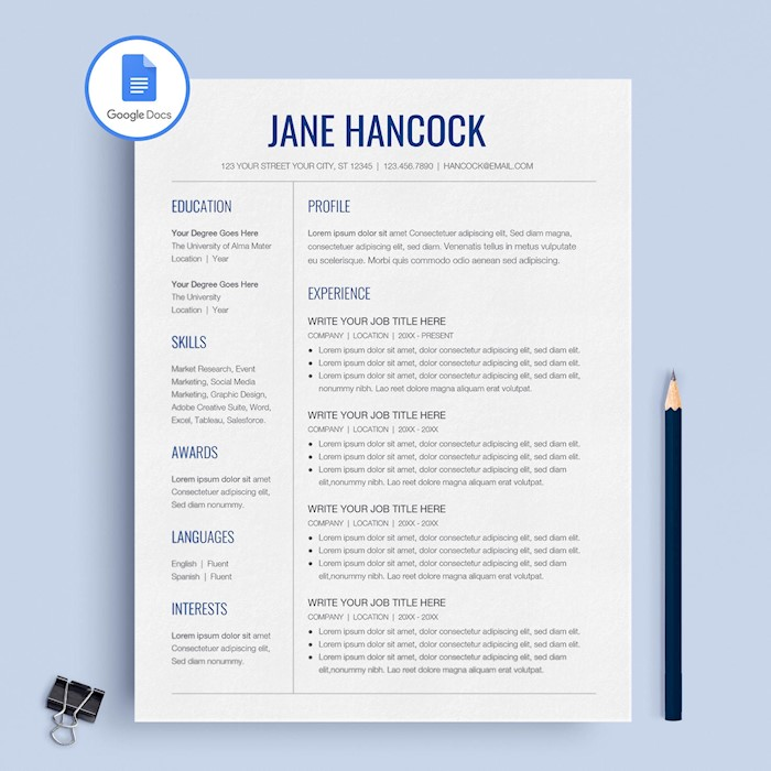blue-resume-template-gdocs