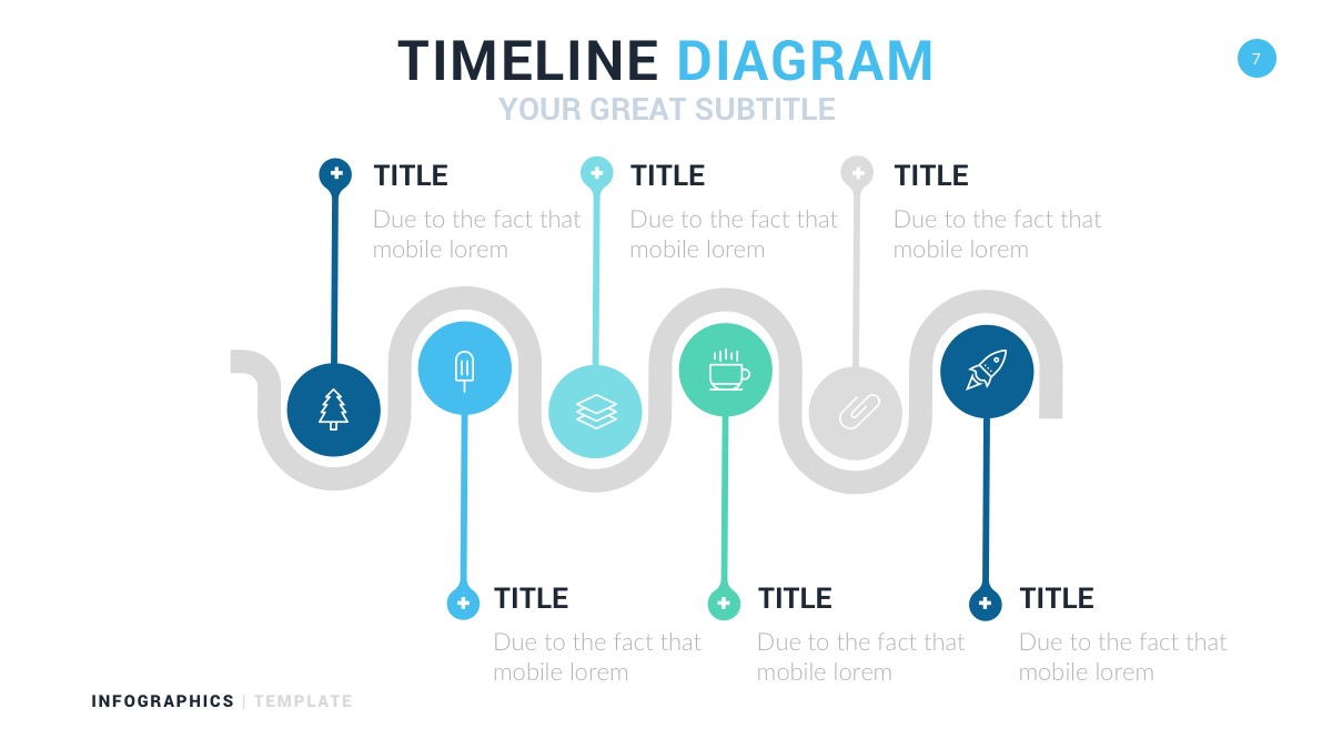 business timeline infographic for powerpoint