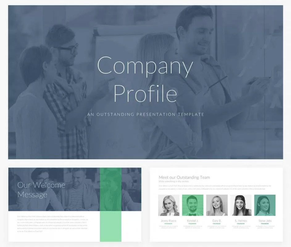 Company Profile Free Presentation Template