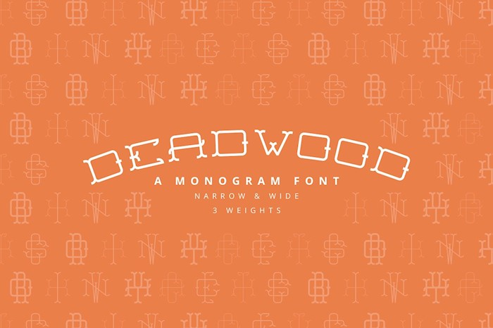 deadwood-a-monogram-font-family