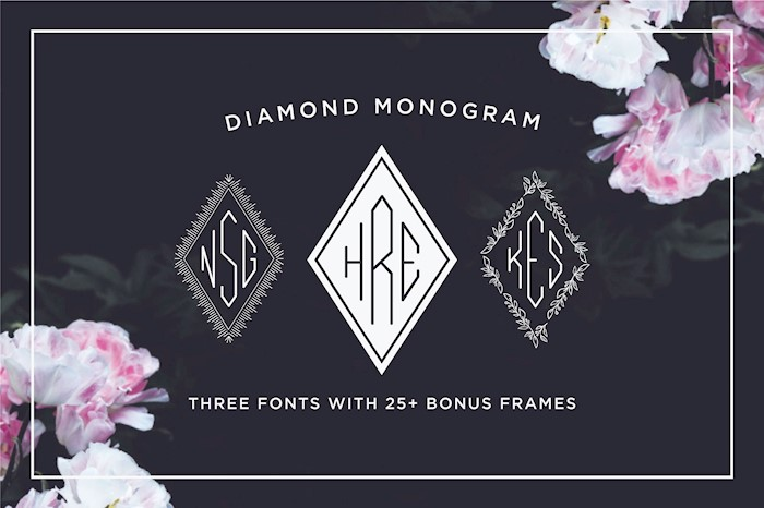 diamond-monogram-font