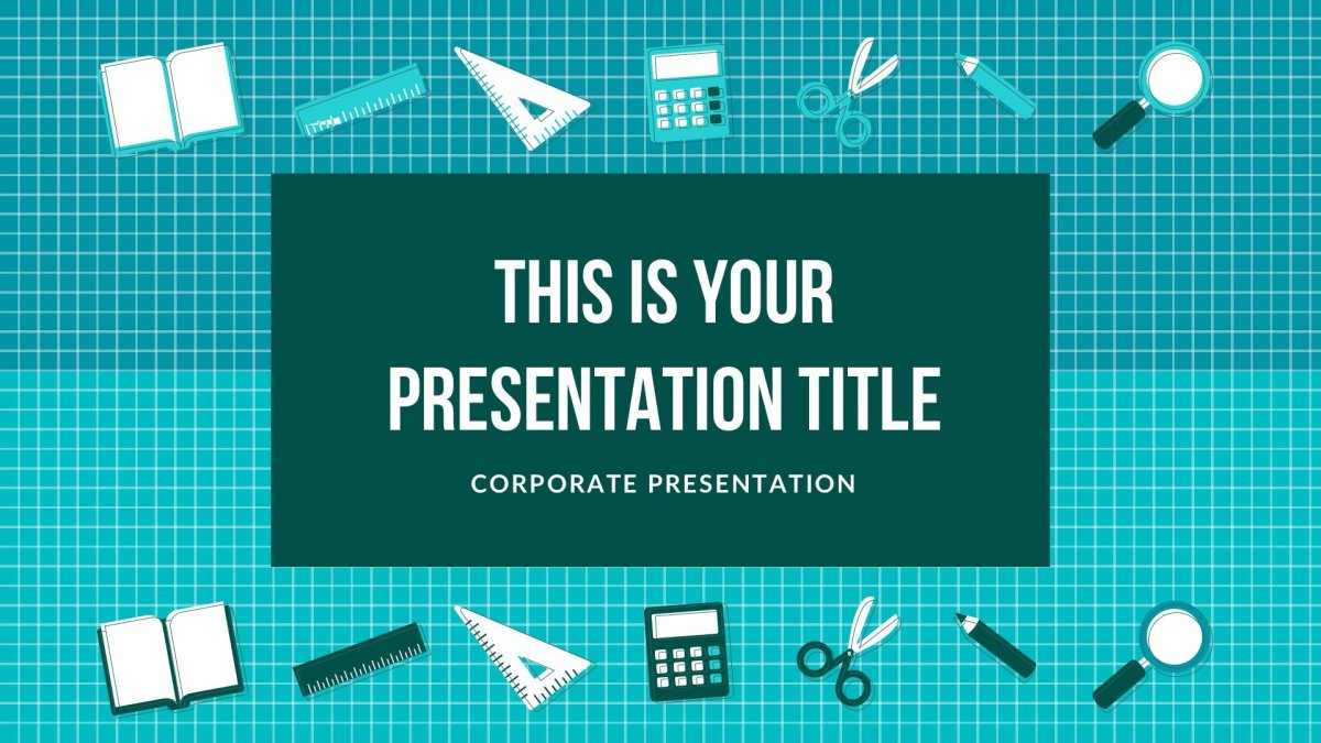 Education Free presentation template for Google Slides and Keynote