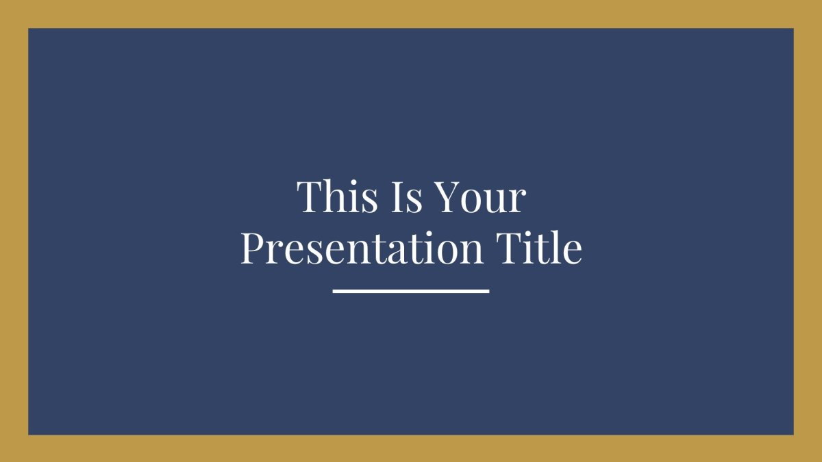 Elegant free school Presentation Template