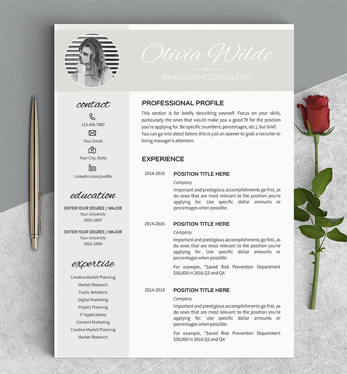 eye-catching-girl-resume