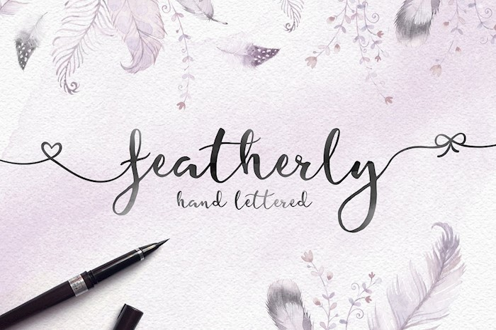 featherly-hand-lettered