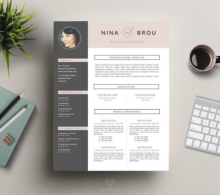 feminine-resume-cv