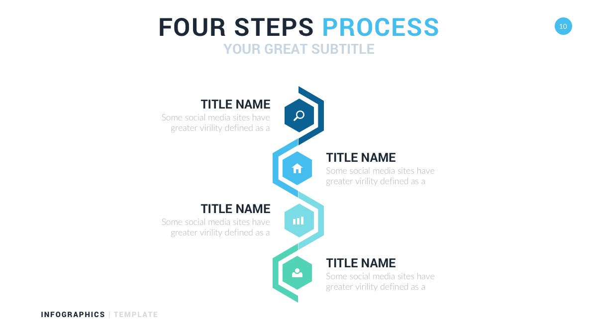 four steps infographic timeline