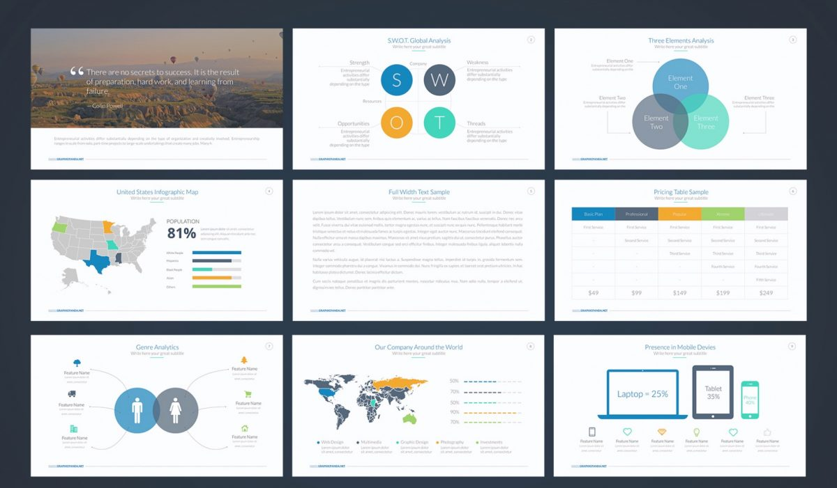 free professional business google slides theme