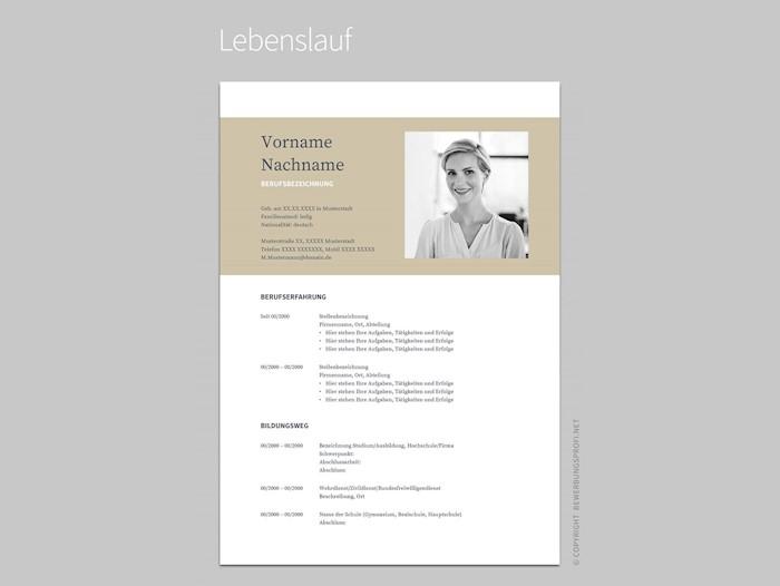 free-resume-template-bewerbung-muster