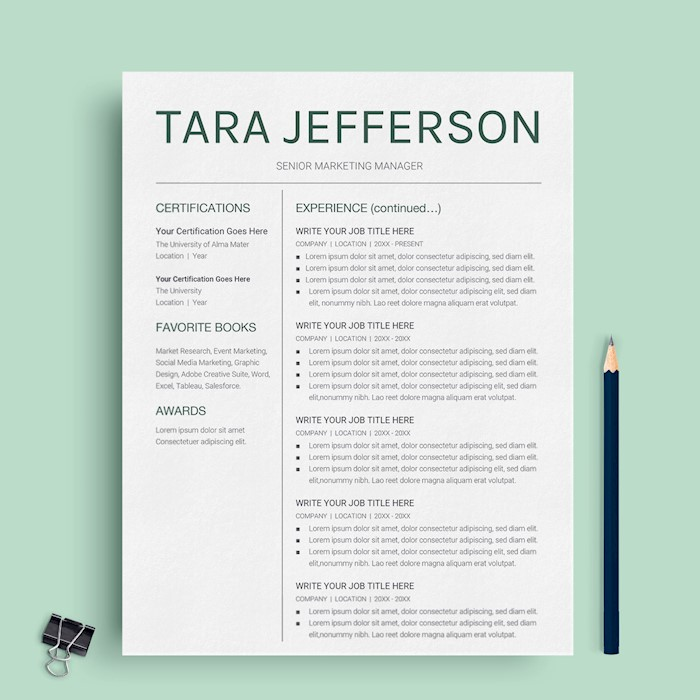 21+ Best Google Docs Resume Templates - Google Drive Examples