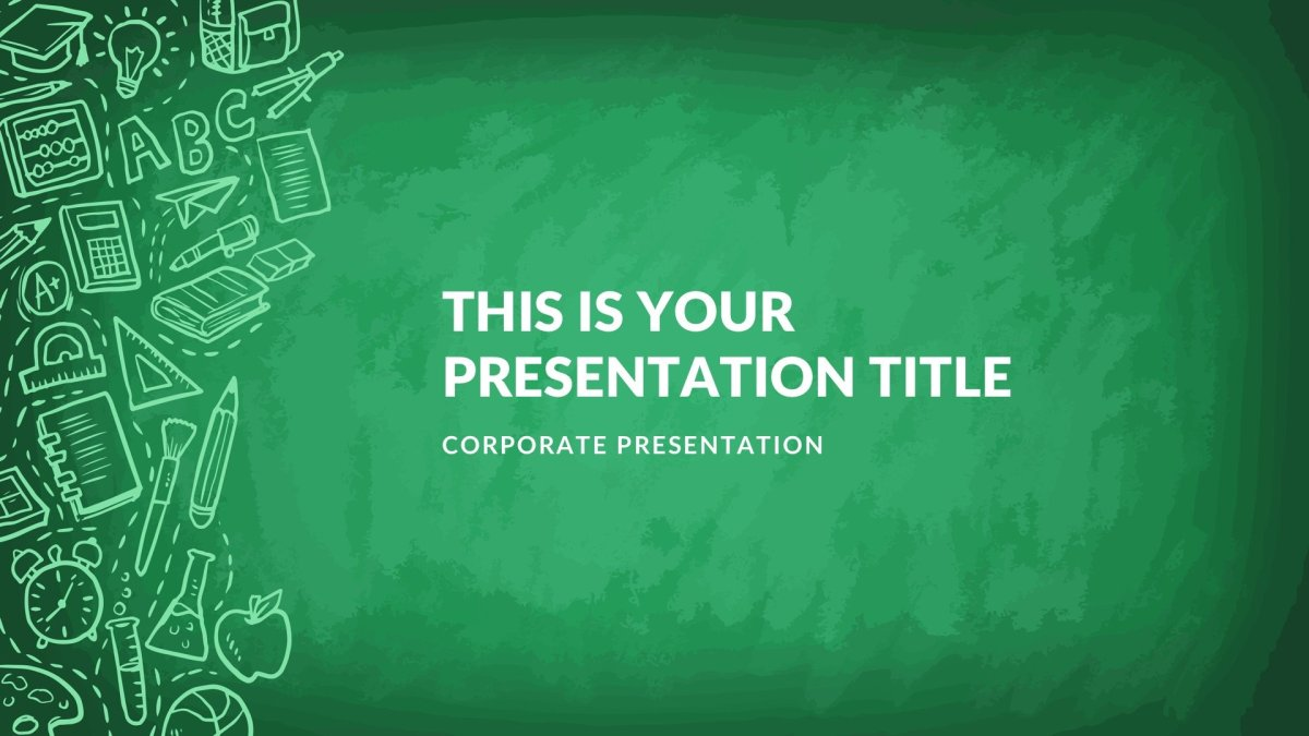 Greenboard Free Google Slides template