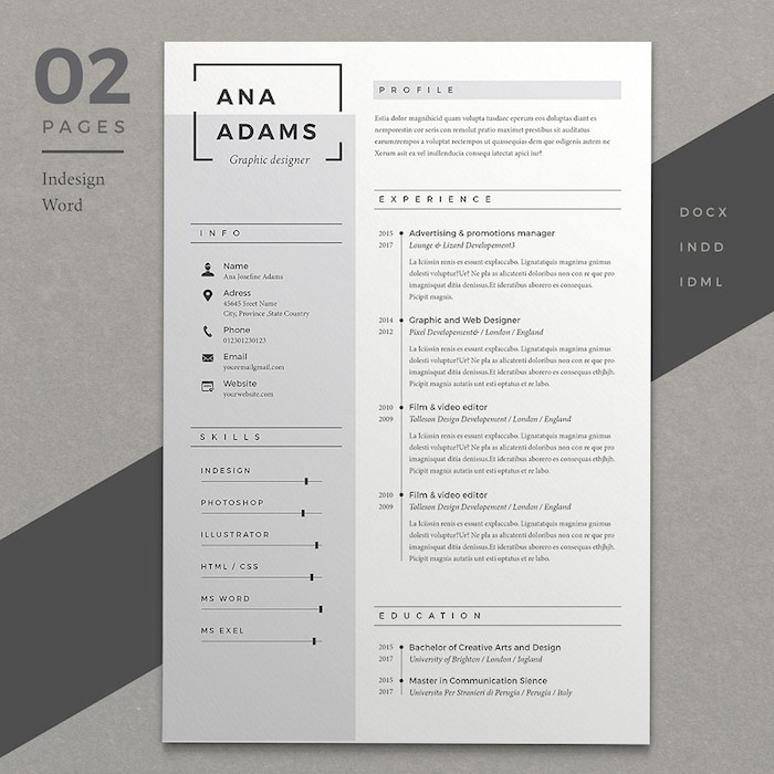 indesign-resume-2-pages