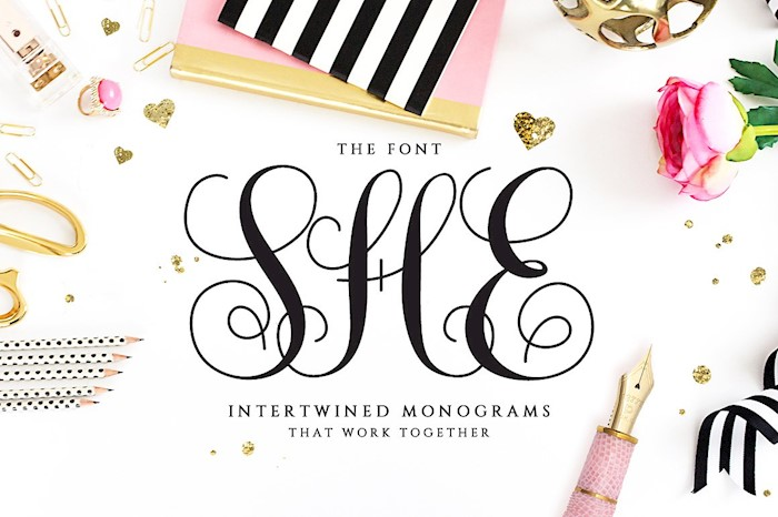intertwined-monogram-she-font