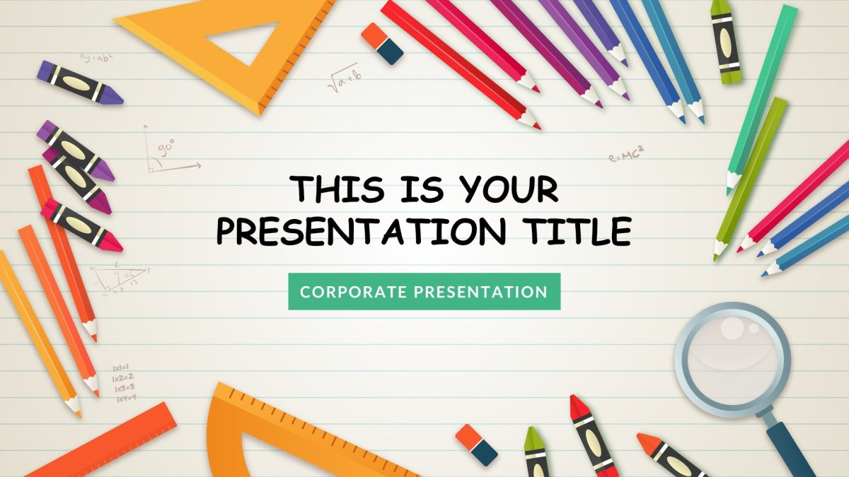 Kindergarten Free Powerpoint Template