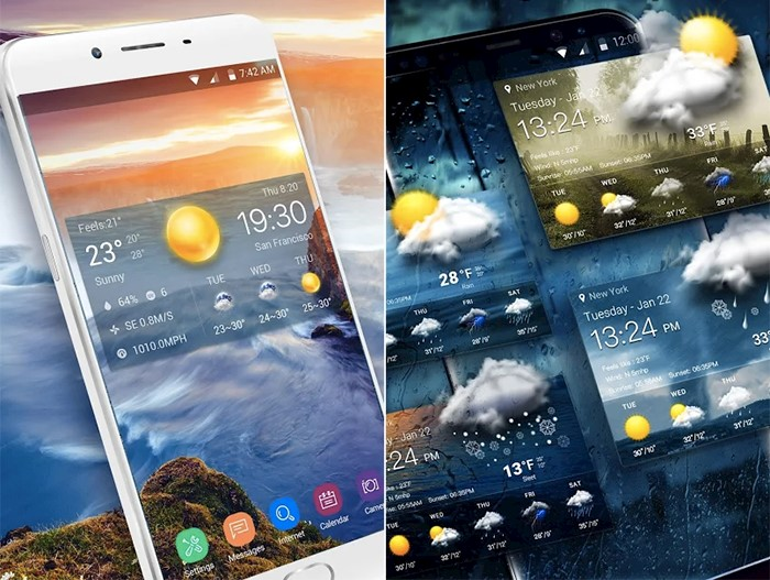 Top 21 Transparent Weather Widget Apps for Android 2018