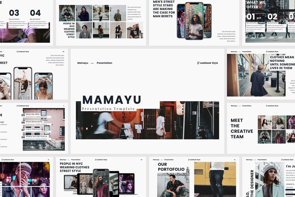 mamayu free presentation template