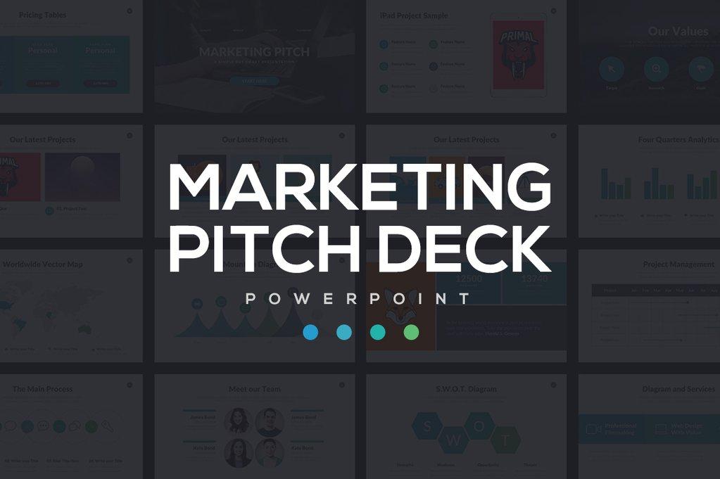 Marketing Best Pitch Deck PowerPoint Template