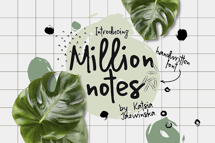 million-notes-handwritten-script