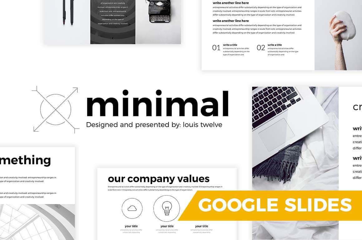 Minimal Free Google Slides Template
