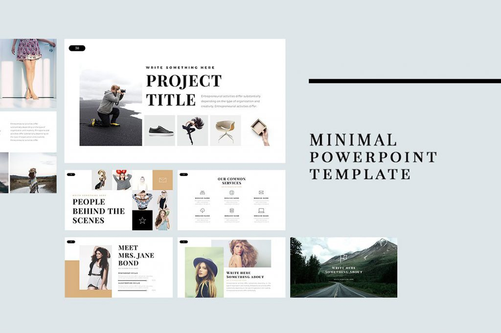 23 best free minimal powerpoint templates 2018 for Minimalist powerpoint template free