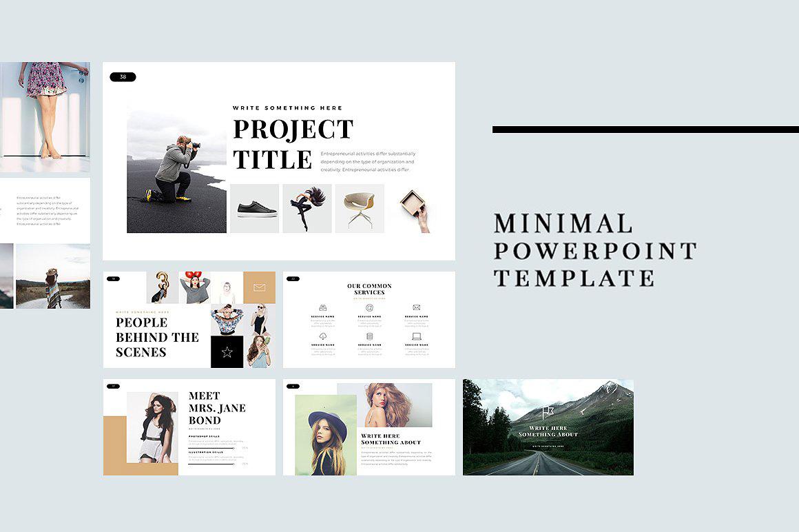 23 best free minimal powerpoint templates 2018 toneelgroepblik Image collections