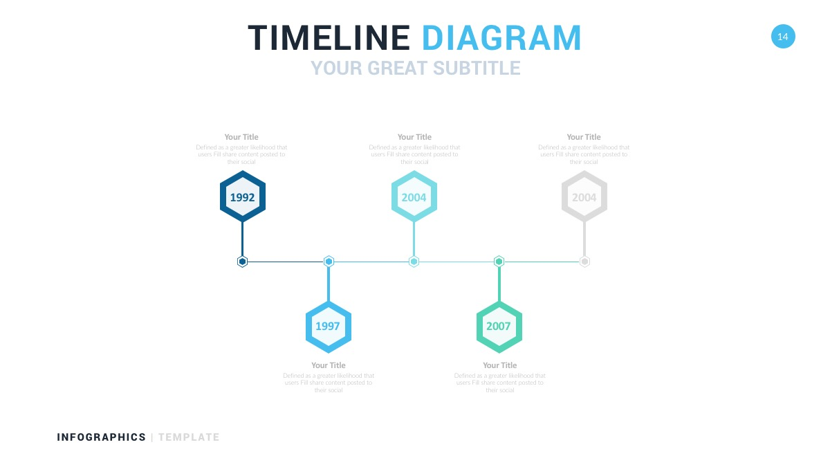 blue timeline diagram powerpoint