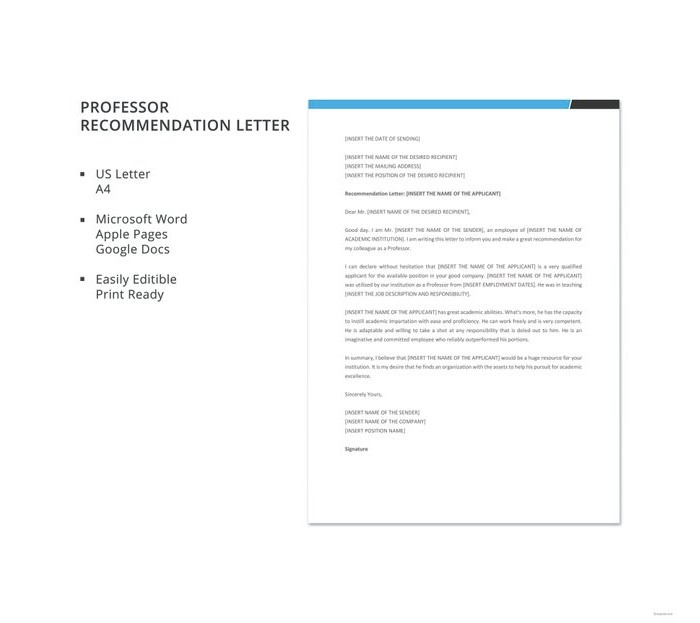 professor-recommendation-letter