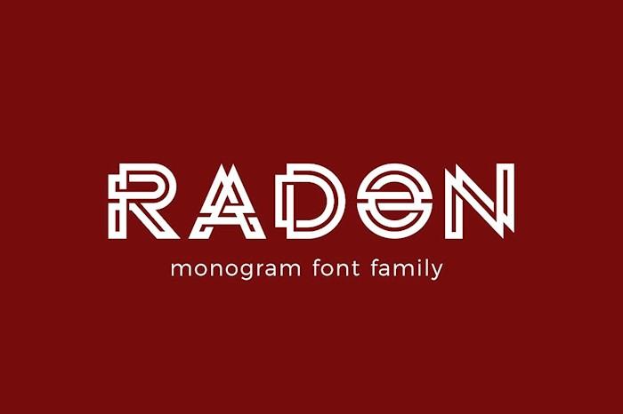 radon-monogram-logo-font