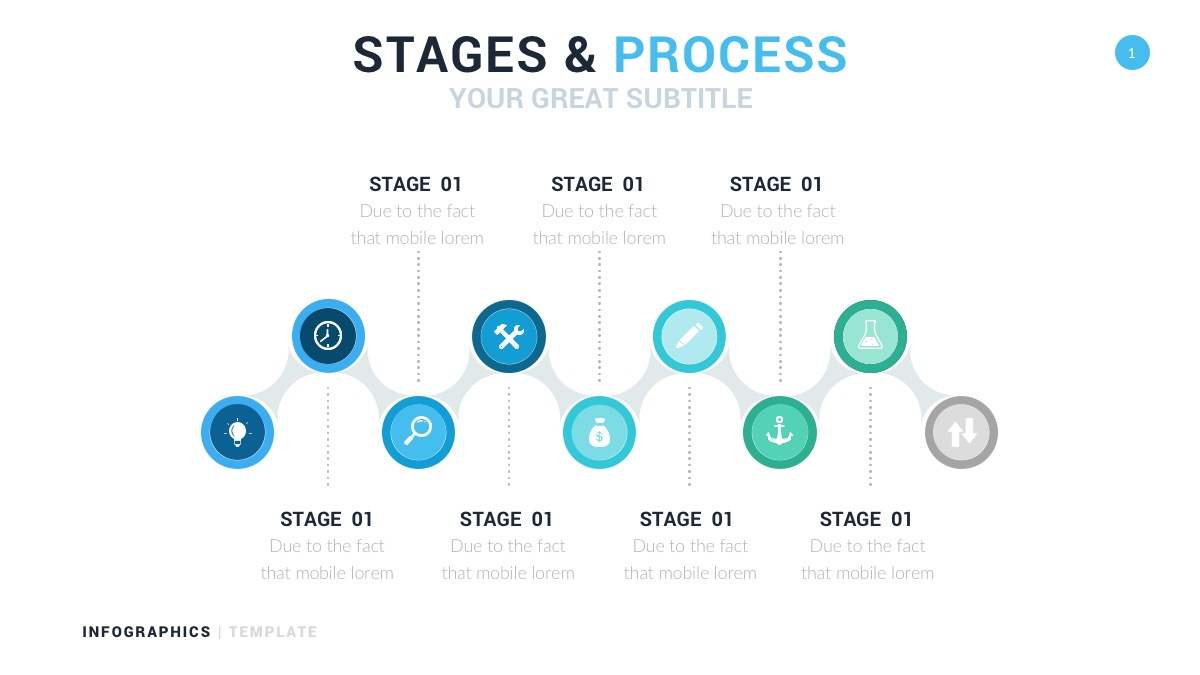 stages and process infographics