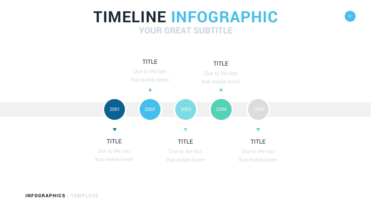 timeline infographic for google slides and powerpoint