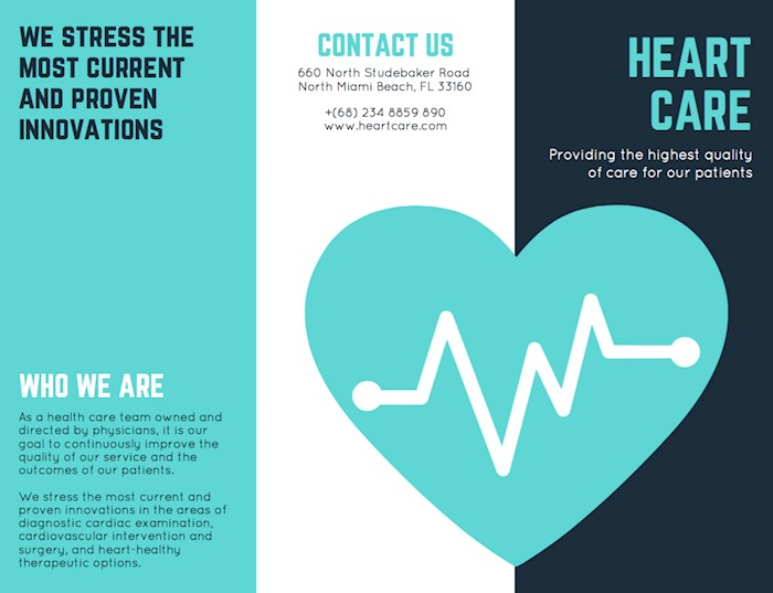 turquoise-heart-vector-medical-brochure