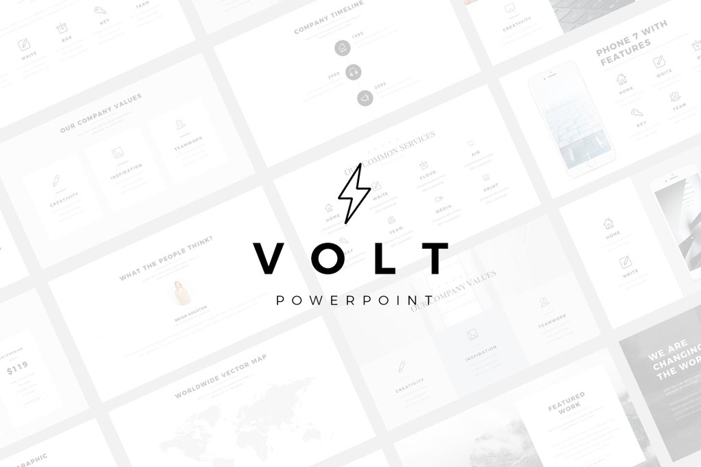 Volt best aesthetic PowerPoint Template