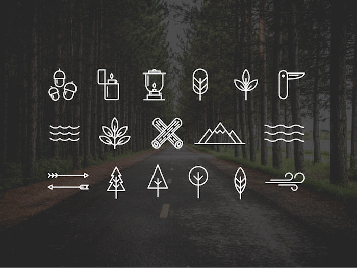 camping-wilderness-icons