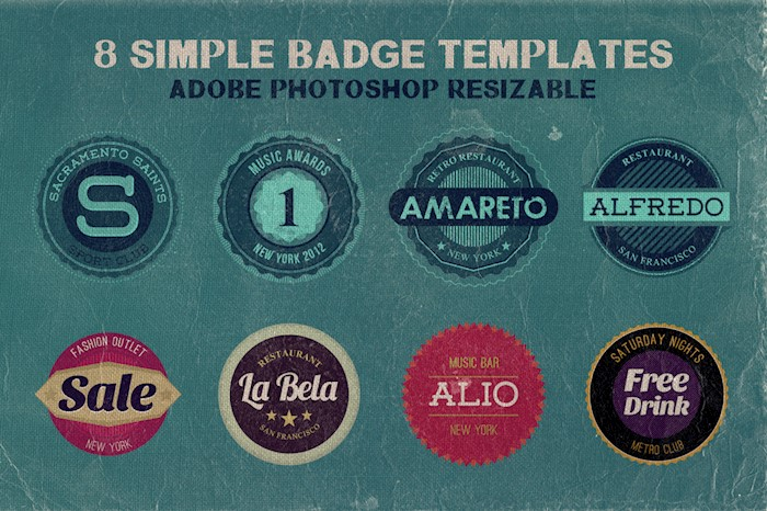 eight-simple-badges