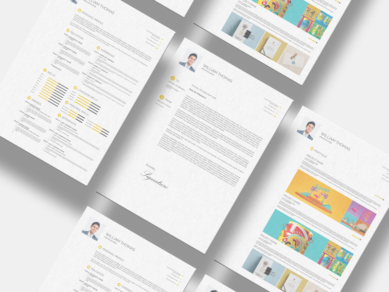 Freebie CV Resume Set Template
