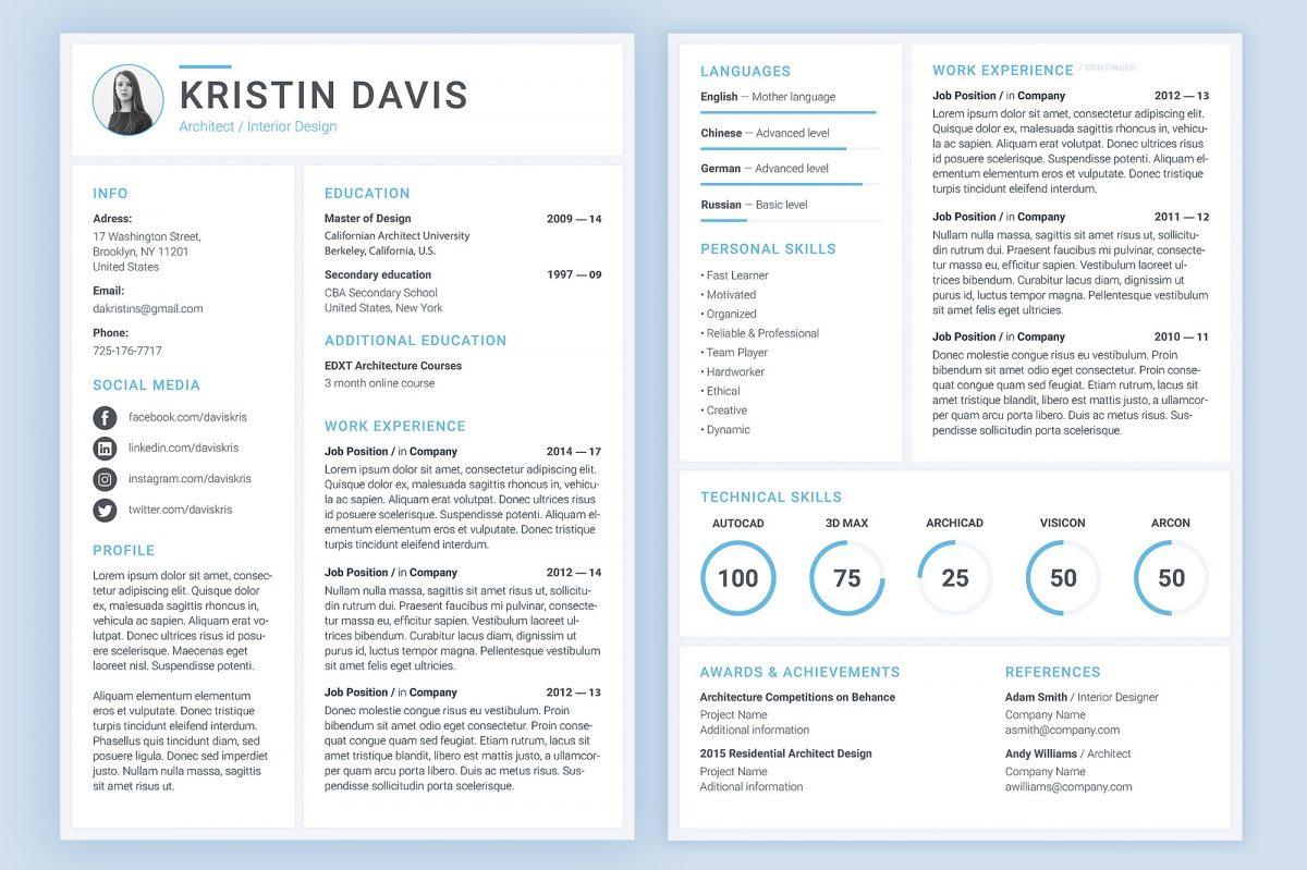 Modern Resume Template 2018