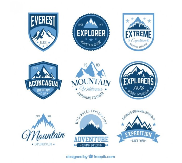 mountains-badges