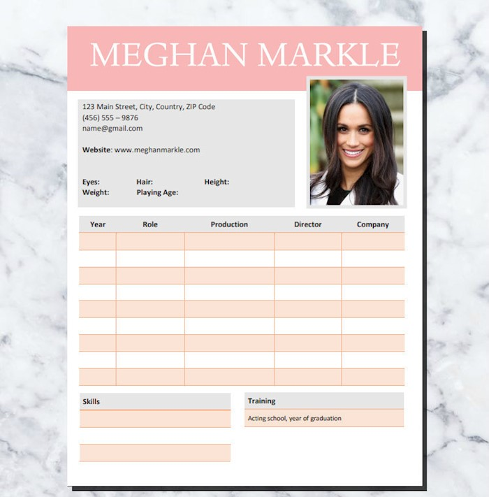 active-cv-template-meghan-markle