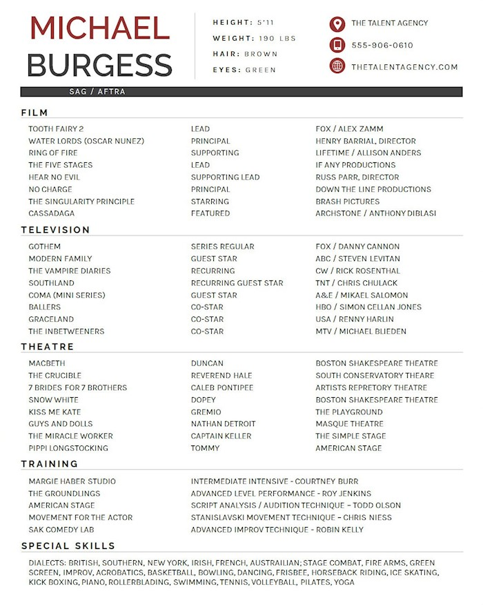 actor-resume-template-red