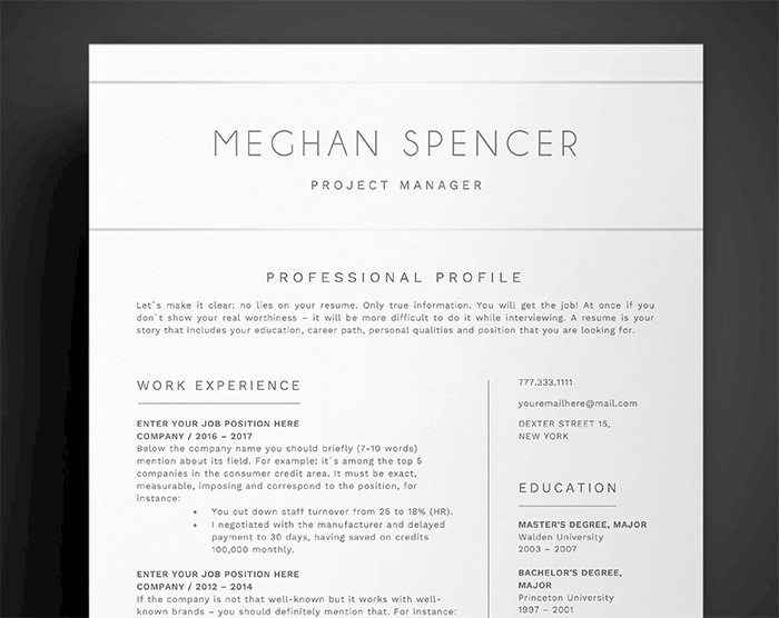 administative-resume-template-executive