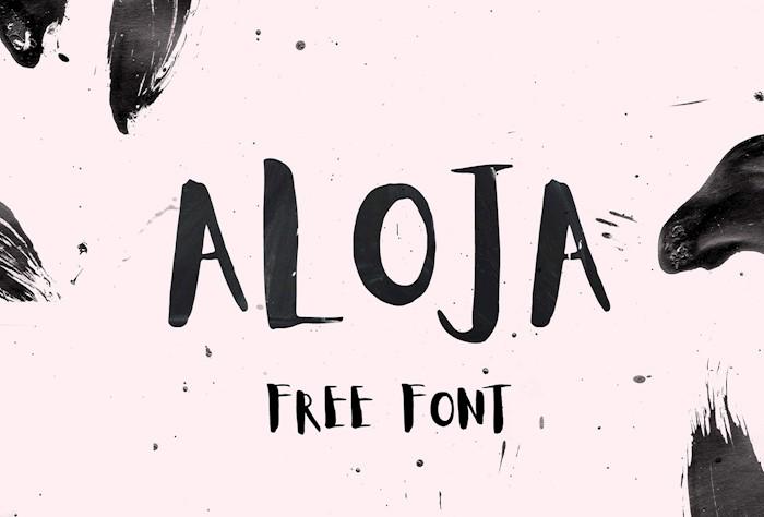aloja-free-handwritten-font