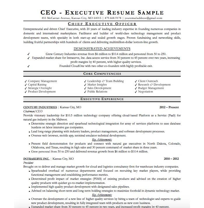 ceo-resume-cv