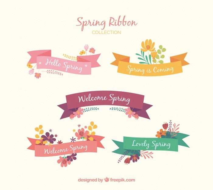 collection-of-five-spring-ribbons