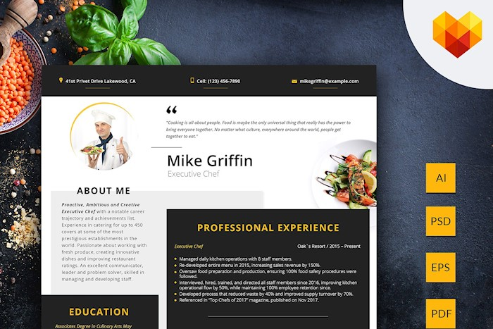editable-resume-executive-chef