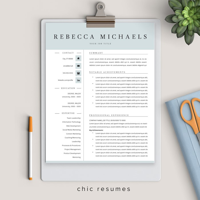 executive-resume-template-ms-word-pages