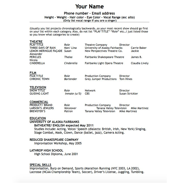 first-acting-resume